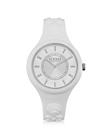 Fire Island Silicon and Silver Tone Stainless Steel Women's Watch - Versace Versus