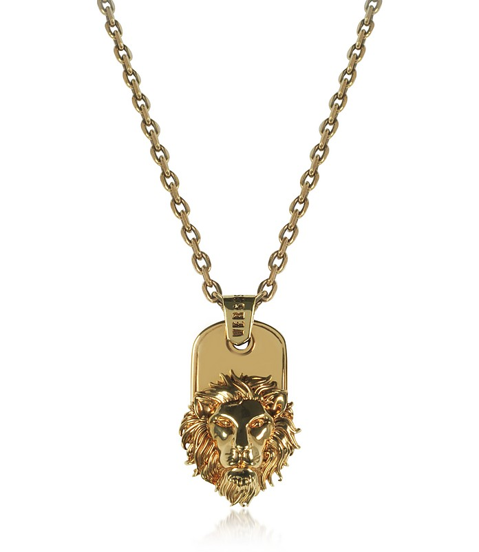 Golden Lion Head Necklace - Versace Versus