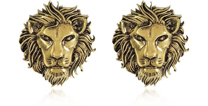 Orecchini Dorati con Leone - Versace Versus