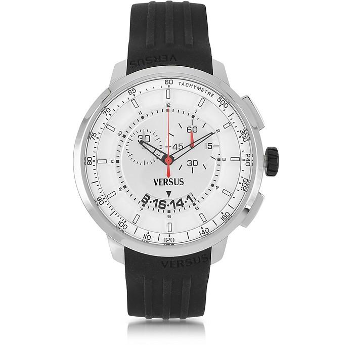 Manhattan Stainless Steel Men's Chronograph Watch w/Rubber Strap - Versace Versus