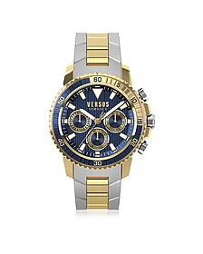 Aberdeen Two Tone Stainless Steel Men's Chronograph Watch w/Blue Dial - Versace Versus