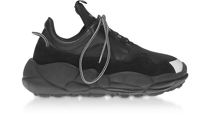 Anatomia Neoprene and Suede Runner Sneakers - Versace Versus