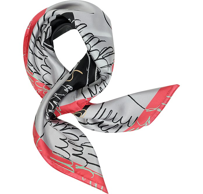 Apollo Wings Print Twill Silk Square Scarf - Vivienne Westwood