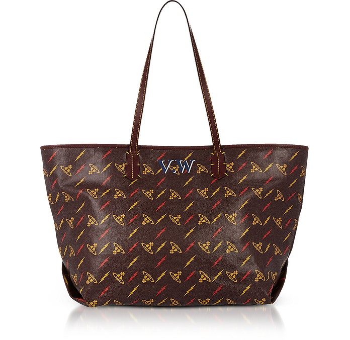Orb Printed Canvas Small Colette Shopper - Vivienne Westwood