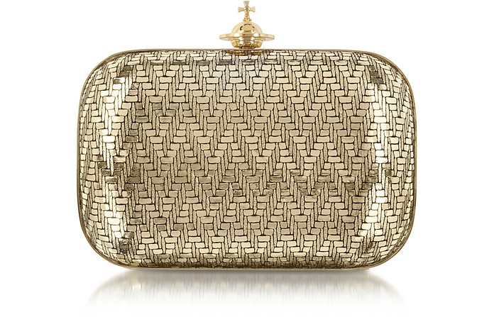 Grace Small Metallic Clutch - Vivienne Westwood