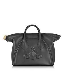 Yasmine Small Black Leather Chelsea Bag