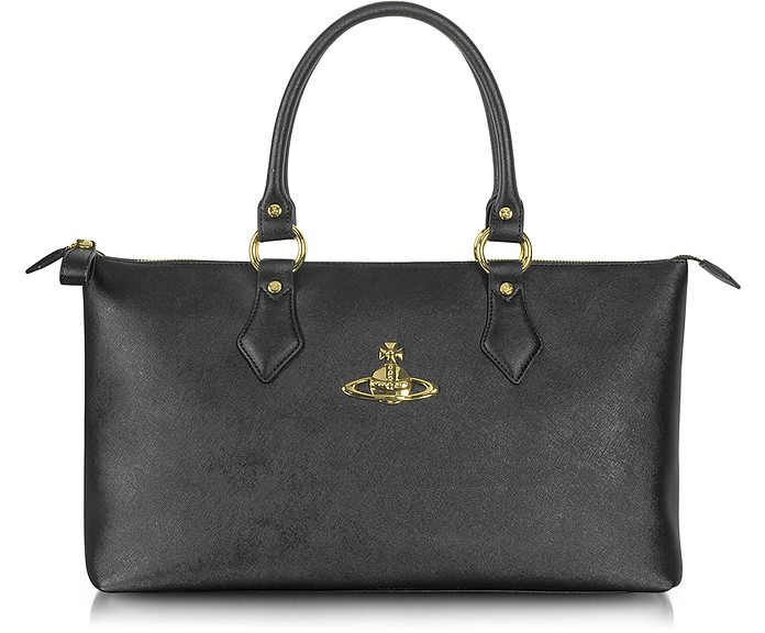 318a530ff3 Vivienne Westwood Divina Saffiano Eco Leather Tote Bag at FORZIERI