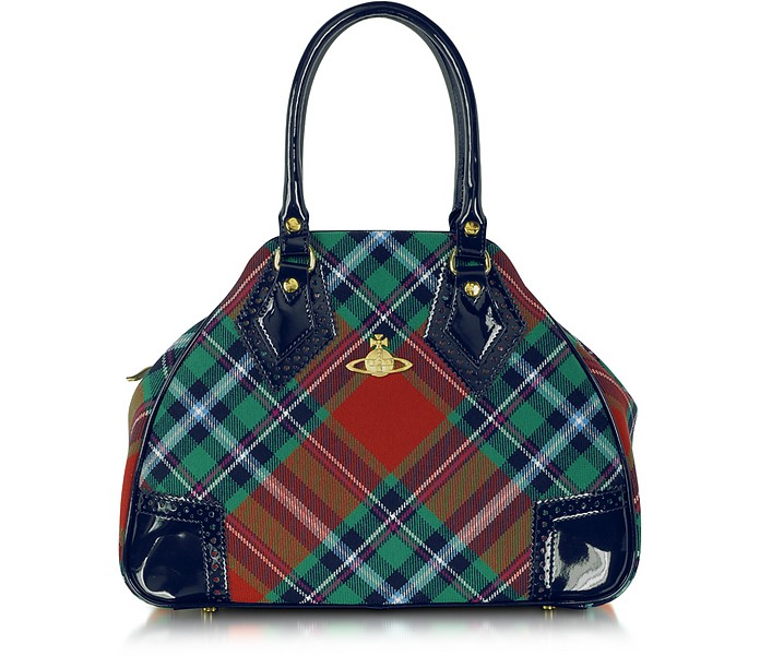 Mac Bruce Tartan and Eco Patent Leather Bag - Vivienne Westwood