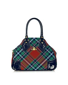 Mac Bruce Tartan and Eco Patent Leather Bag