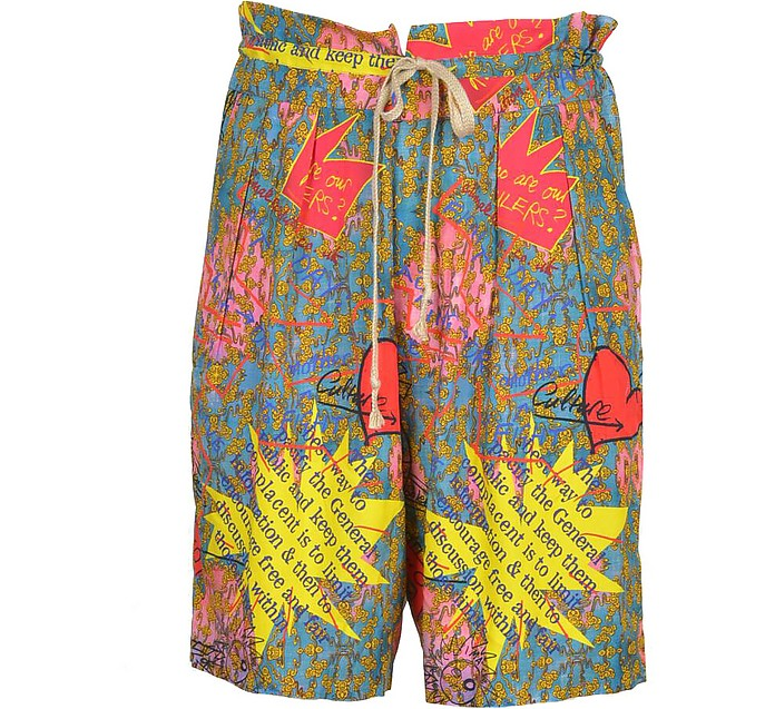 Multicolor Viscose Men's Shorts - Vivienne Westwood