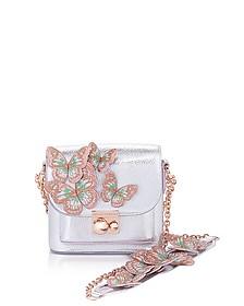 Silver & Pastel Leather Claudie Butterfly Crossbody Bag - Sophia Webster