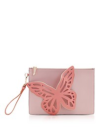 Antique Rose Flossy Butterfly Pouchette - Sophia Webster