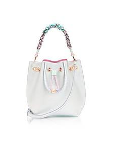 Silver & Pastel Metallic Leather Romy Mini Bucket Bag  - Sophia Webster