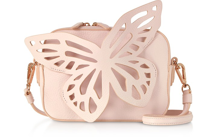 Sunkissed Pink Flossy Butterfly Camera Bag - Sophia Webster