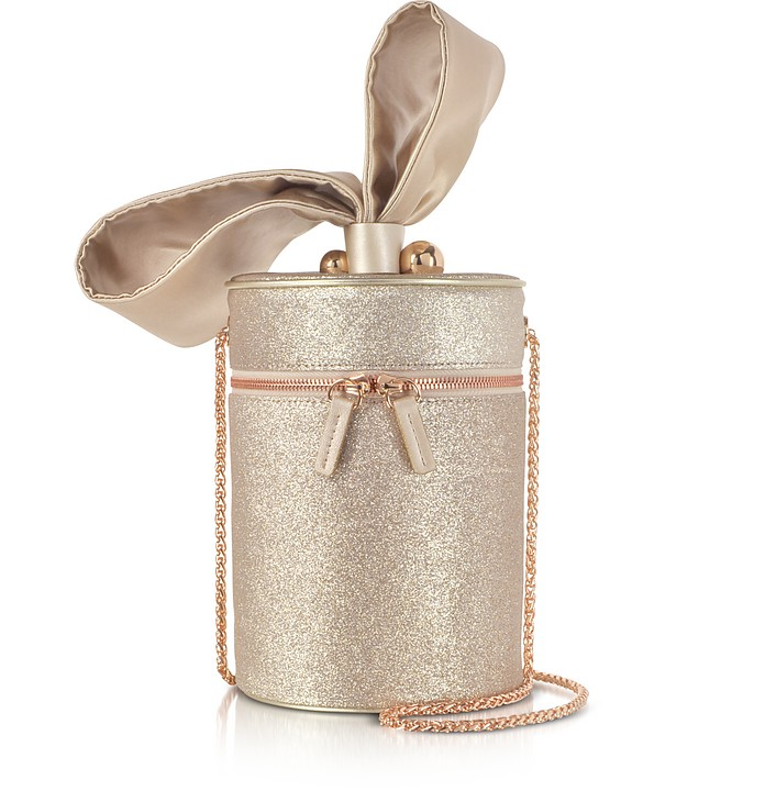 Champagne Bonnie Glitter Cross Body Bag  - Sophia Webster