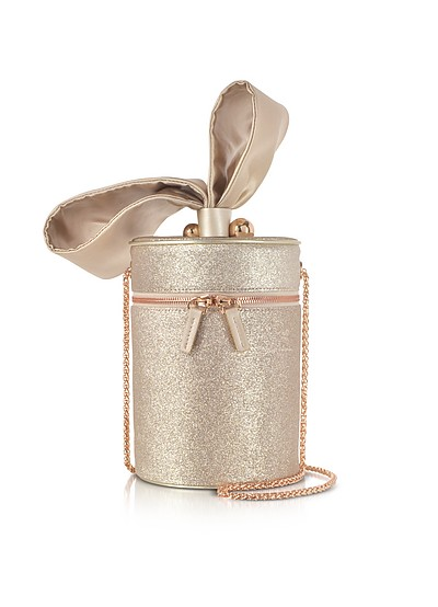 Champagne Bonnie Glitter Cross Body Bag  - Sophia Webster