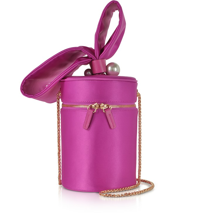 Fuchsia Bonnie Satin Cross Body Bag  - Sophia Webster