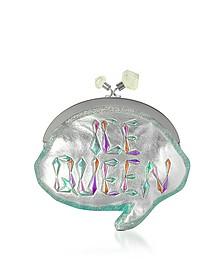Ice Queen Speech Metallic Pochette w/Chain Strap - Sophia Webster