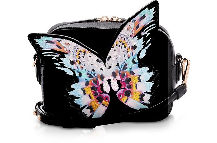 Black & Multi Flossy Butterfly Camera Bag - Sophia Webster