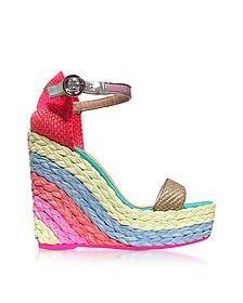 Lucita Rainbow Wedge Sandals - Sophia Webster