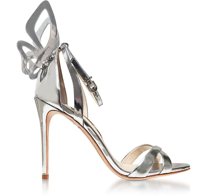Silver Mirror Leather Madame Chiara Sandals - Sophia Webster