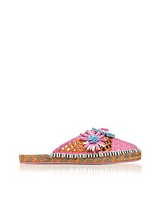 Jute and Leather Tansy Espadrille Slippers - Sophia Webster