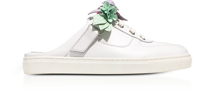 White Leather Lilico Jessie Sneakers - Sophia Webster