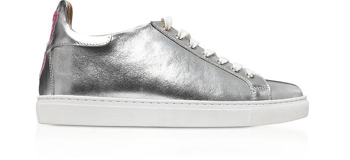 Silver & Pastel Metallic Leather Bibi Low Top Sneaker - Sophia Webster