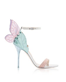Silver & Pastel Mirror Leather Chiara Sandals - Sophia Webster
