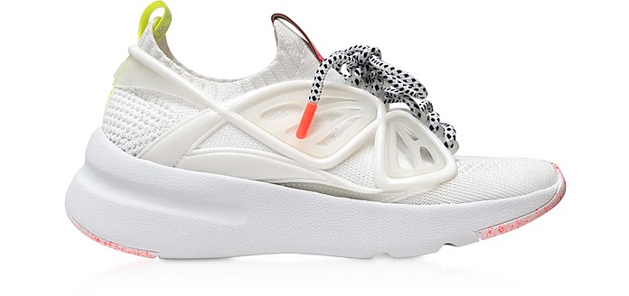Fly-By White Knit Sneakers - Sophia Webster