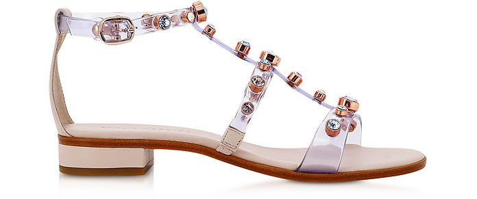 Dina Gem Dusty & Pastel Vinyl Flat Sandals - Sophia Webster