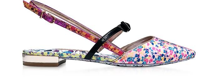 Laurellie多色皮革平底鞋 - Sophia Webster