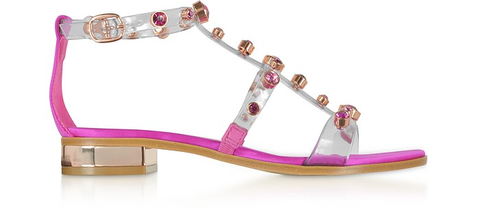 Transparent Vinyl and Satin Dina Flat Sandals - Sophia Webster