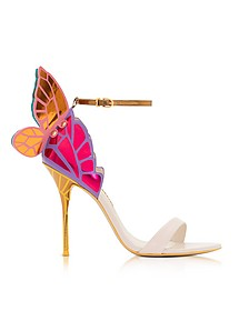 Nude and Multicolor Metallic Leather Chiara High Heel Sandals - Sophia Webster