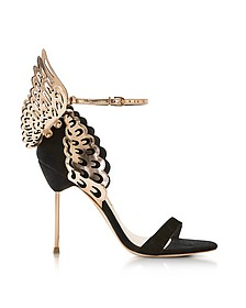 Black and Rose Gold Evangeline Sandals - Sophia Webster