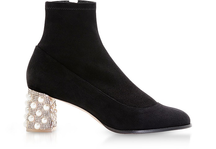 Black Felicity Mid Ankle Boots - Sophia Webster