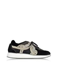 Royalty Black Low Top Sneakers - Sophia Webster