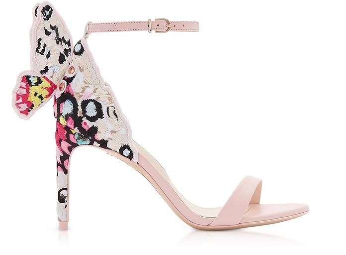 Sophia Pink & Multi Chiara Embellished 85mm Sandals - Sophia Webster