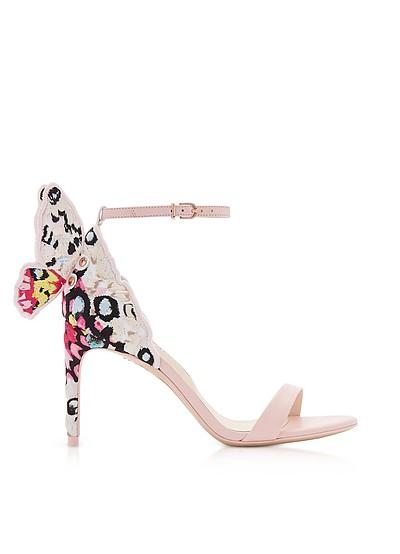 Sophia Pink & Multi Chiara Embellished 85mm Sandals - Sophia Webster