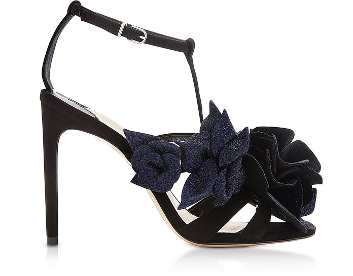 Black & Midnight Jumbo Lilico Sandals - Sophia Webster