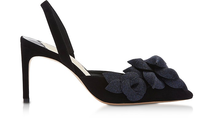 Black & Midnight Jumbo Lilico Slingback Pumps - Sophia Webster