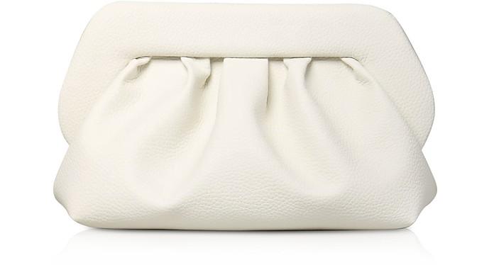 Clutch in Eco Pelle Martellata Bianco Ottico con Tracolla - THEMOIRÉ