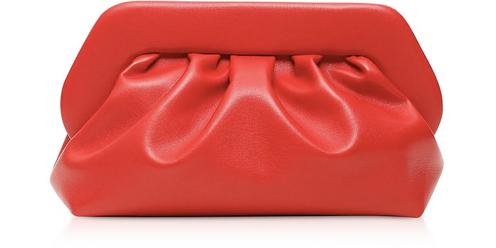 Red Eco-Leather Pouch Bag - THEMOIRÉ