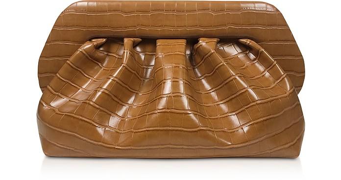 Clutch in Eco Pelle Stampa Cocco Camel con Tracolla - THEMOIRÉ