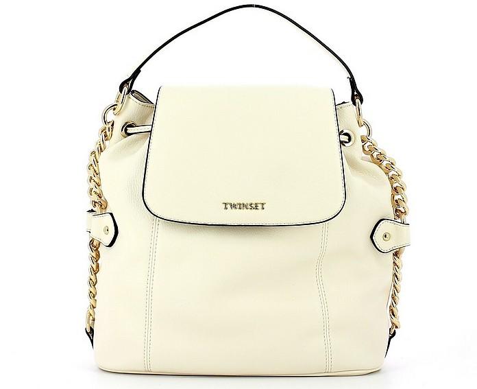 Women's White Backpack - TWIN SET