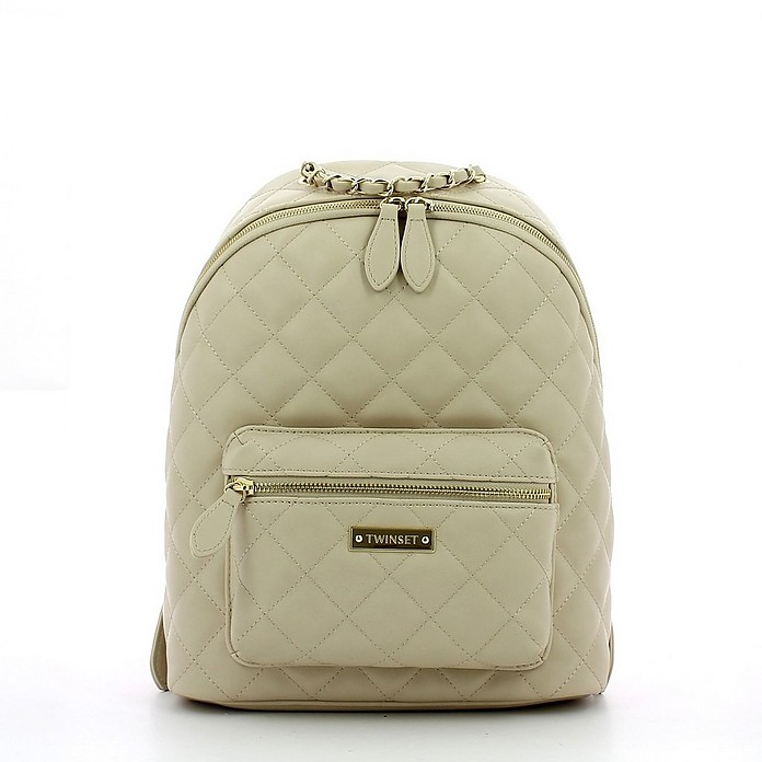 Women's Beige Backpack - TWIN SET