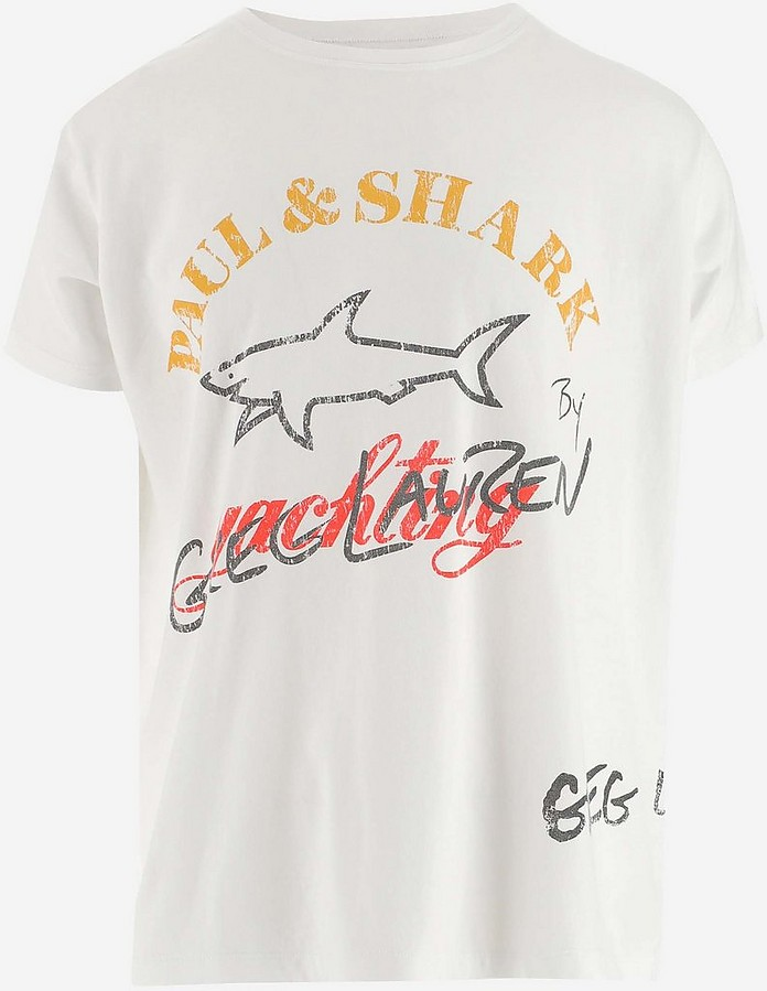 White Men's T-Shirt  - Paul&Shark by G.Lauren