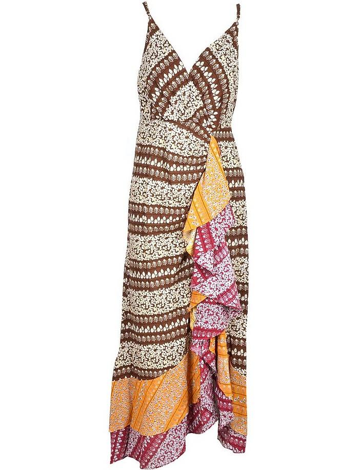 Women's Fantasy Print Dress - Weili Zheng