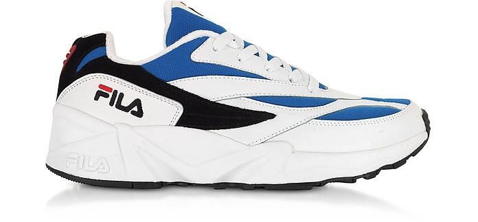 V94M Low White & Electric Blue Men's Sneakers - FILA