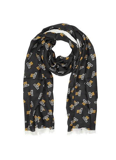 Teddy Bear Modal and Cashmere Stole - Moschino